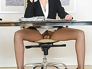 Milf Lady Sonia in black pantyhose