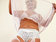 Horny Cougar Katie Hood Strips Nude