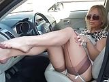 Incredible Milf Flashing Stockings