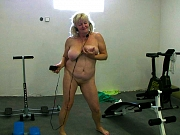 Granny and chubby granny with strapon have enjoying nice masturbating