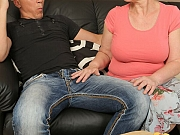 Winnie Anderson busty mature fucks with young guy a sofa
