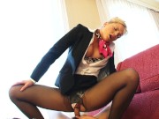 Interracial Pantyhose Sex (4 Scenes)