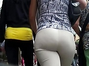 Big ass latin milfs in white pants
