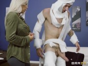 Rachel Roxxx has fun at the office costume party - Brazzers