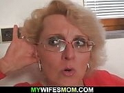 Mom in law rides his cock till wife comes in
