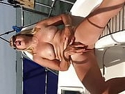Big titted Boat Masturbation