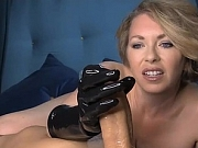 Dominant Milf finishing the job in her Latex gloves