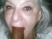 Granny suck Big Black Dick